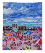 Right Panel Of Triptych Busy Relaxing Fleece Blanket