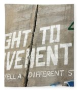 Right To Movement Fleece Blanket