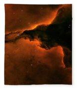 Right - Triptych - Stellar Spire In The Eagle Nebula Fleece Blanket
