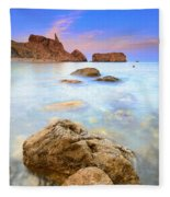 Rijana Beach Mediterranean Sea Fleece Blanket