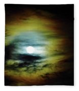 Ring Around The Moon Fleece Blanket