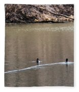 Ring-necked Duck Formation Fleece Blanket