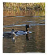 Ring Necked Duck Fleece Blanket