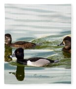 Ring-necked Trio Fleece Blanket