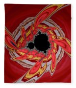 Ring Of Feathers - Abstract Fleece Blanket