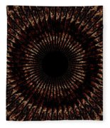 Rings Of Fire Fleece Blanket