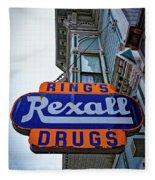 Ring's Rexall Drugs  Fleece Blanket