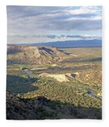 Rio Grand Near White Rock Fleece Blanket
