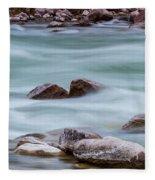 Rio Grande Flow Through Stones Fleece Blanket