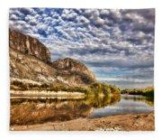 Rio Grande River 1 Fleece Blanket
