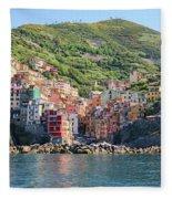 Riomaggiore 0582 Crop Fleece Blanket