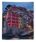 Riomaggiore In Cinque Terre Italy Fleece Blanket