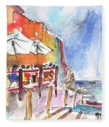 Riomaggiore In Italy 03 Fleece Blanket