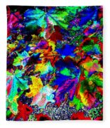 Riot Of Color Fleece Blanket