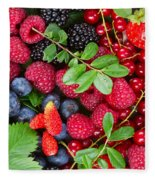 Ripe Of  Fresh Berries Fleece Blanket
