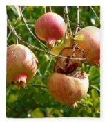 Ripe Pomegranates Fleece Blanket