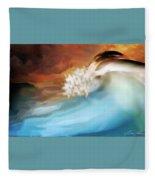 Ripped Cream Fleece Blanket