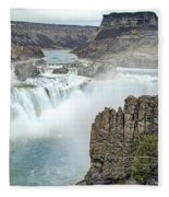 Ripping Shoshone Falls Fleece Blanket