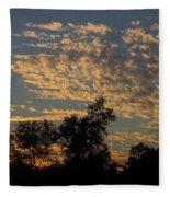 Ripple Clouds At Sunset Fleece Blanket