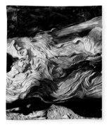 Rippled Wood Fleece Blanket