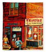 Ripples Ice Cream Factory Fleece Blanket