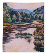 Ripples On The Little River Fleece Blanket