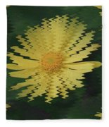 Rippling Daisies  Fleece Blanket