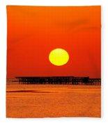 Rising Sun In Nabq Bay Fleece Blanket