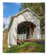 Ritner Creek Covered Bridge 0739 Fleece Blanket
