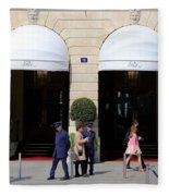 Ritz Hotel Paris Fleece Blanket