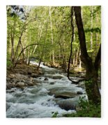 River At Greenbrier Fleece Blanket