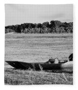 River Canoe Fleece Blanket