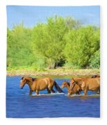 River Crossing Fleece Blanket
