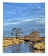 River Duck Morning 2 Fleece Blanket
