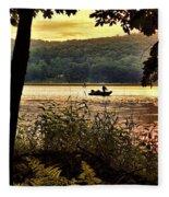 River Fishing  Fleece Blanket