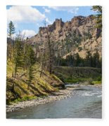 River In Shoshone Fleece Blanket