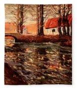 River Landscape Fleece Blanket