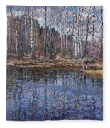 River Landscape Nikolai Petrovich Bogdanov-belsky Fleece Blanket