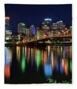 River Lights 2017 Fleece Blanket