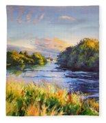 River Moy At Ballina Fleece Blanket
