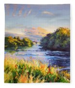 River Moy At Ballina Fleece Blanket
