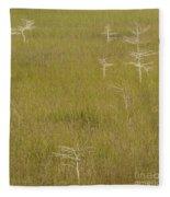River Of Grass 1a Fleece Blanket