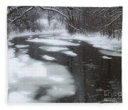 River Of Melting Ice Fleece Blanket