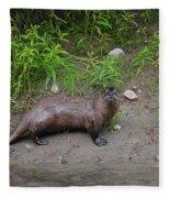 River Otter Fleece Blanket