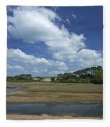 River Otter Estuary,  Budleigh Salterton, Devon, Southwest England, Uk Gb Fleece Blanket