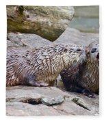 River Otters Fleece Blanket