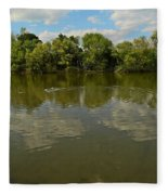 River Reflection Fleece Blanket