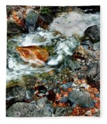 River Rock Leaves Fleece Blanket