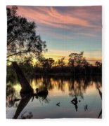 River Sunrise Fleece Blanket