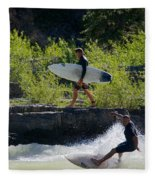 River Surfers Snake River Fleece Blanket